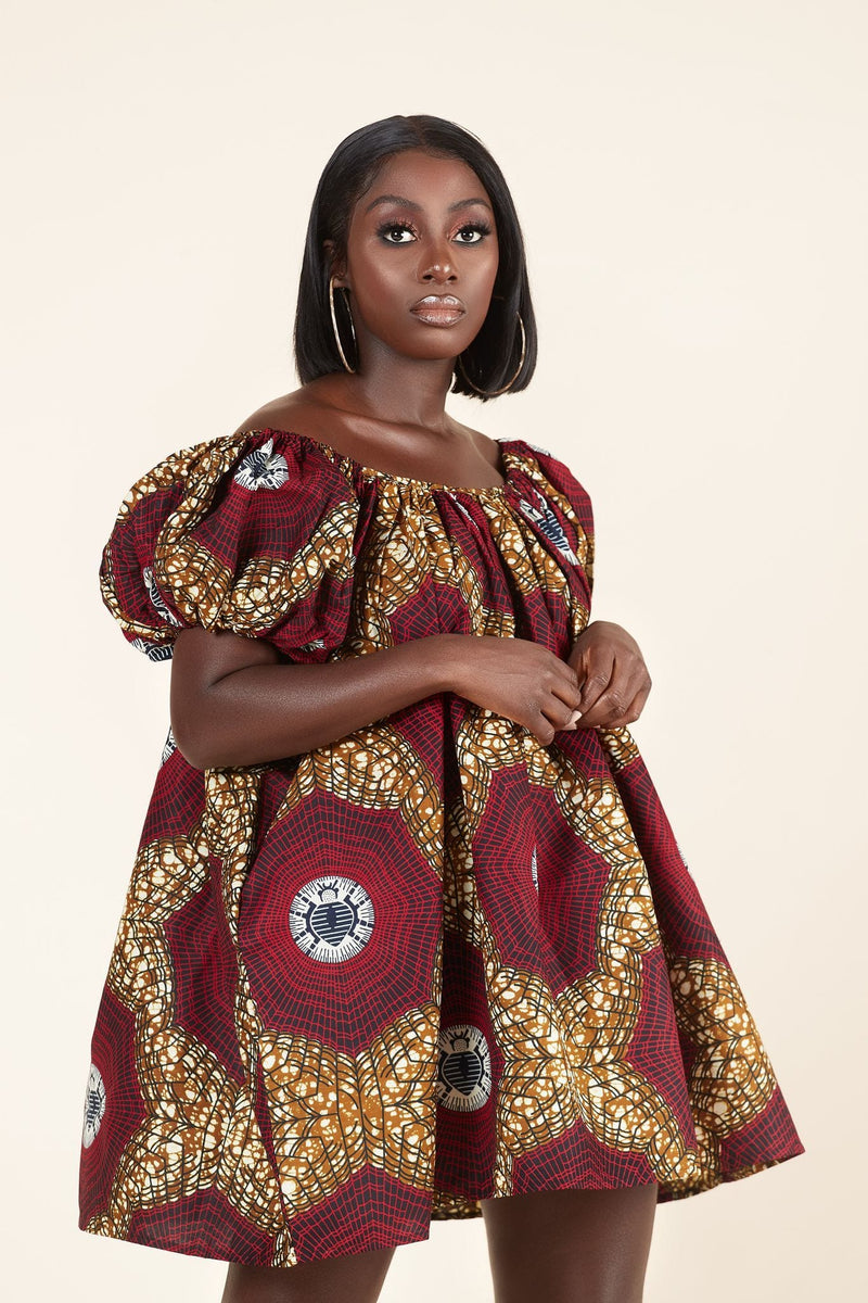 African Print Marie-Therese dress