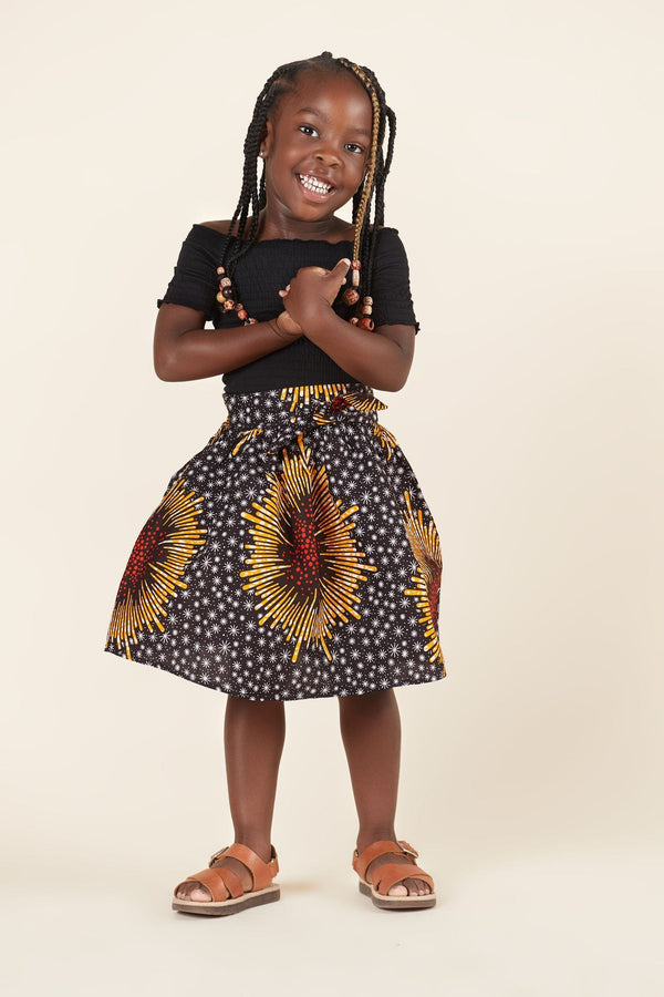 Grass-Fields Mid Lenght Dresses African Print Marissa Kid's Skirt