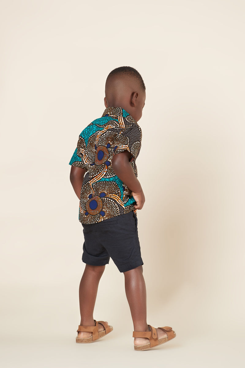 African Print Mathis Kid's Shirt