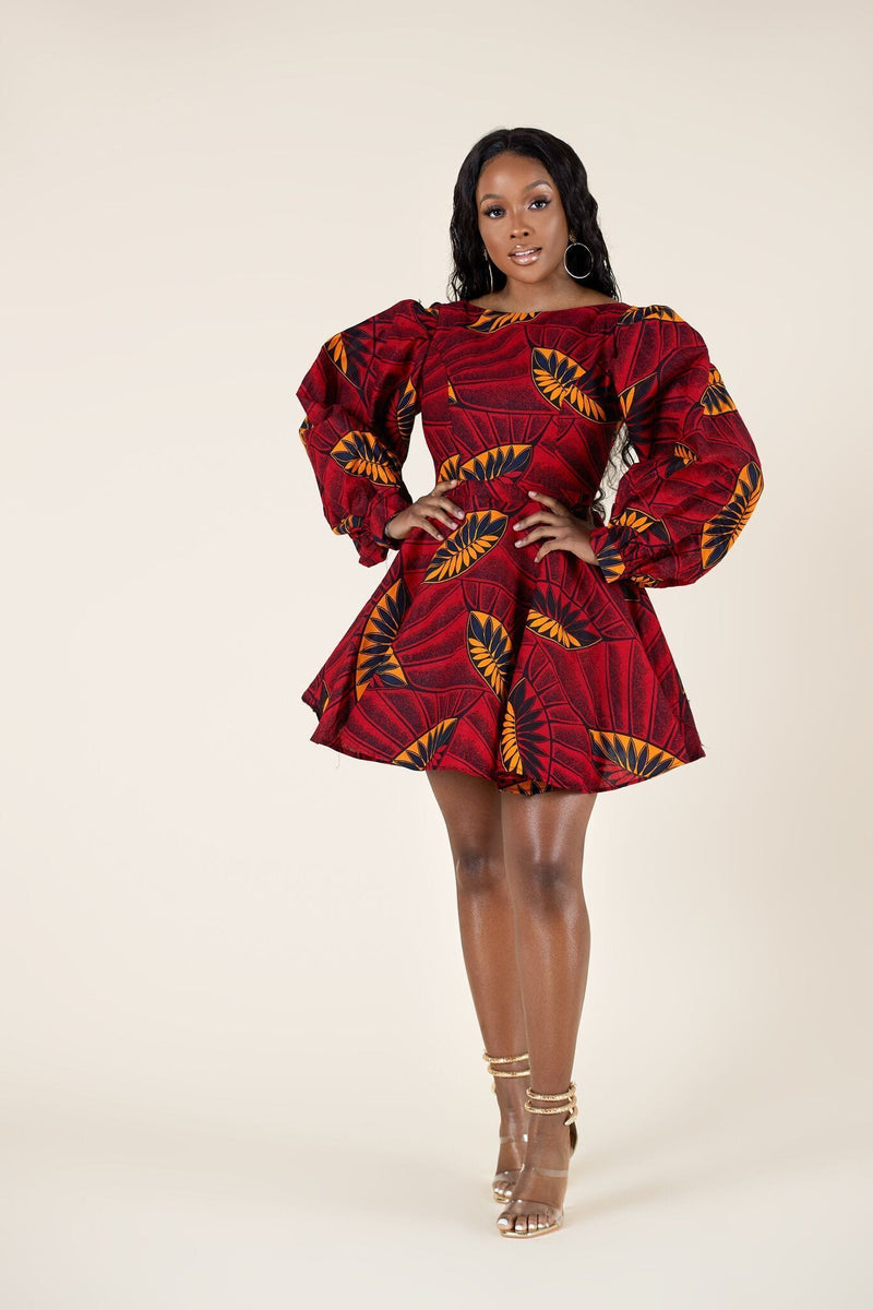 African Print Nayeli Dress
