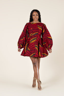 Grass-Fields Mid Lenght Dresses African Print Nayeli Dress