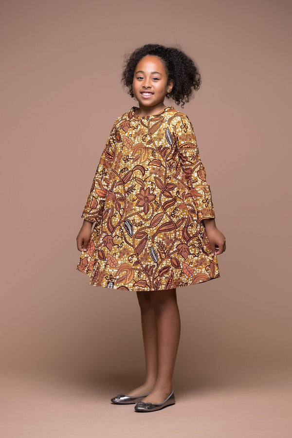 Grass-Fields Mid Lenght Dresses African Print Nikki Kid's Dress