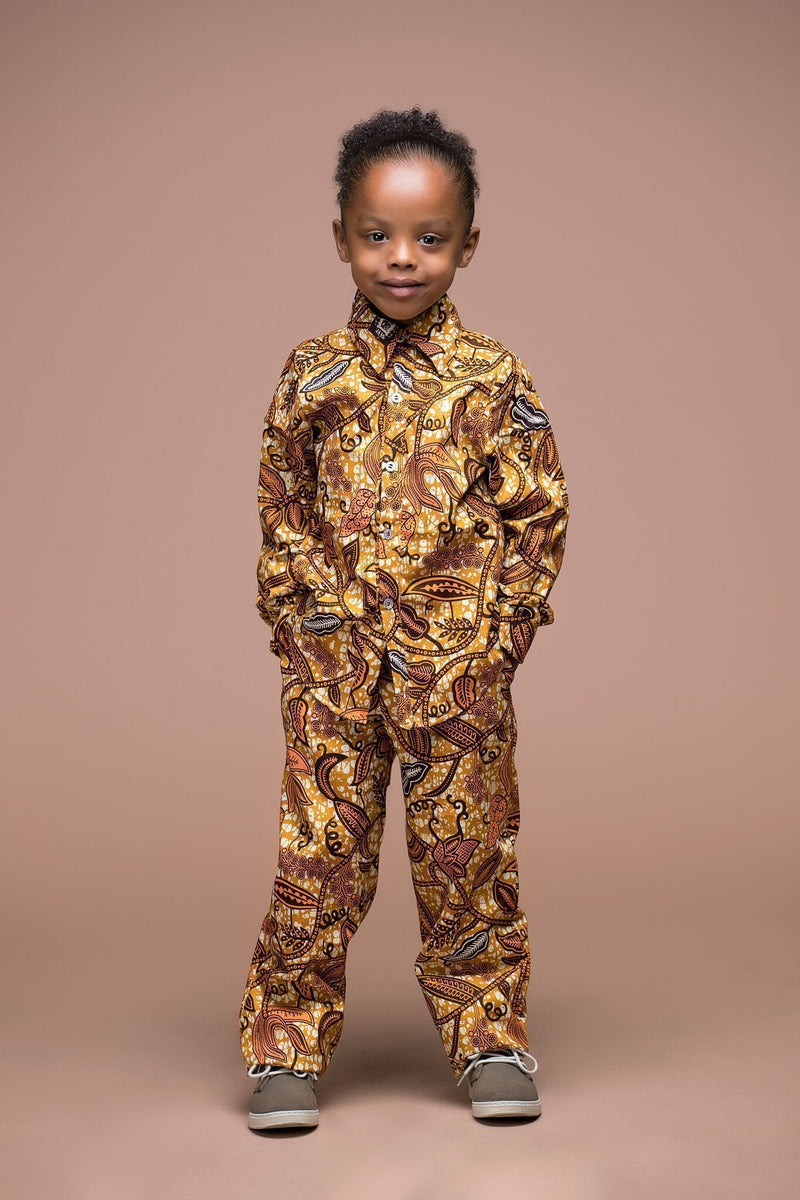 Grass-Fields Mid Lenght Dresses African Print Nikki Kid's Trouser