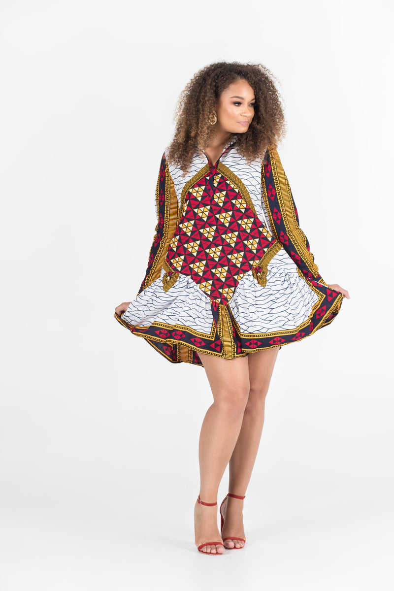 Grass-Fields Mid Lenght Dresses African Print Remi Dress