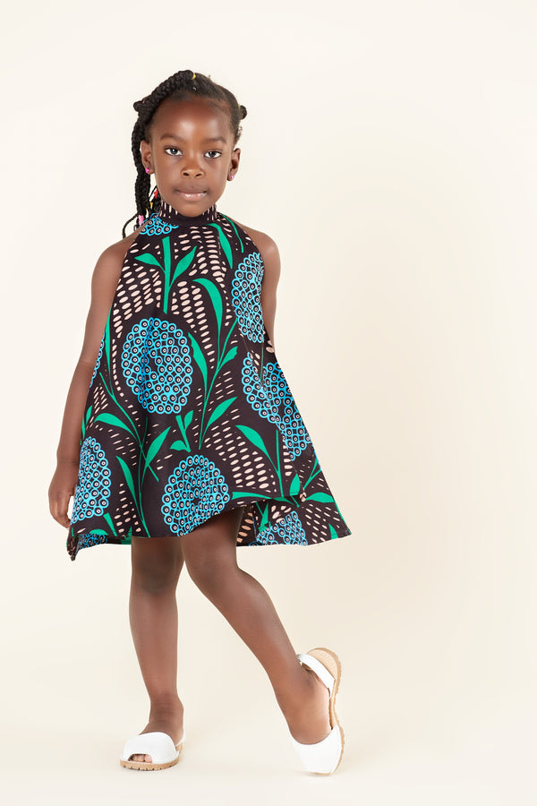 Grass-Fields Mid Lenght Dresses African Print Rosie Kid's Dress