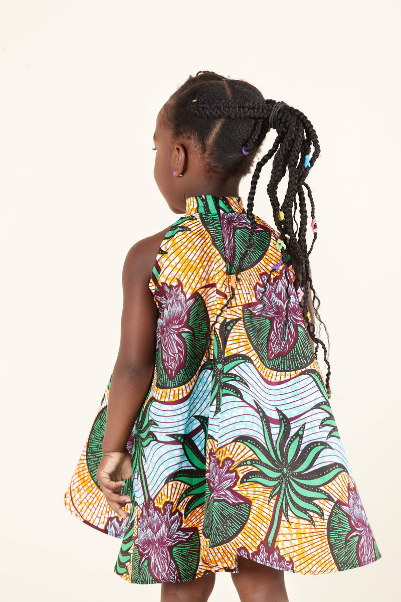African Print Sahara Kid's Dress
