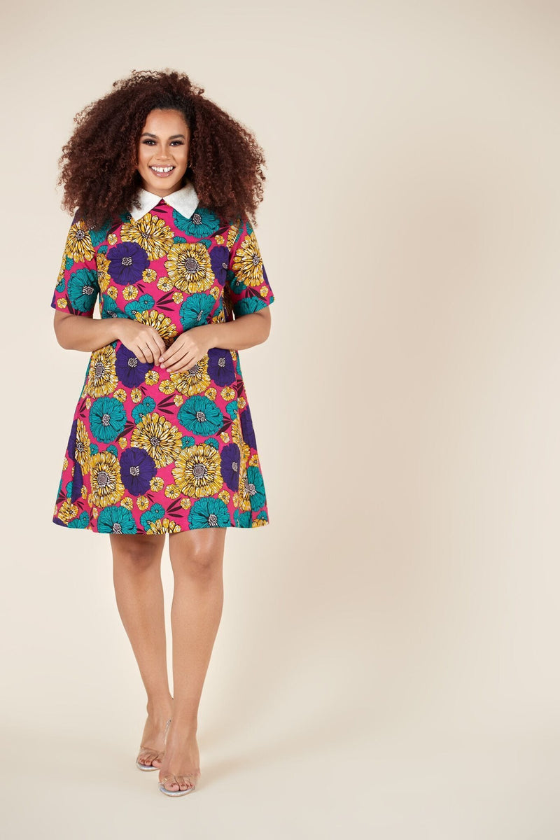 Grass-Fields Mid Lenght Dresses African Print Savannah Dress