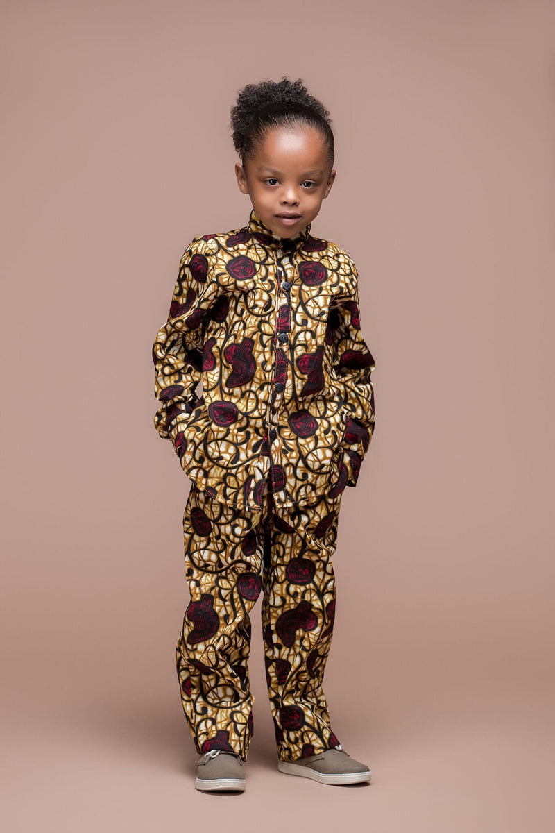 Grass-Fields Mid Lenght Dresses African Print Suma Kid's Trouser