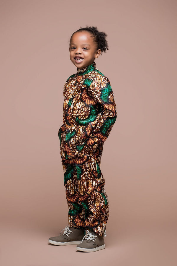 Grass-Fields Mid Lenght Dresses African Print Suni Kid's Trouser