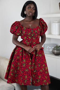 African Print Tajuka dress