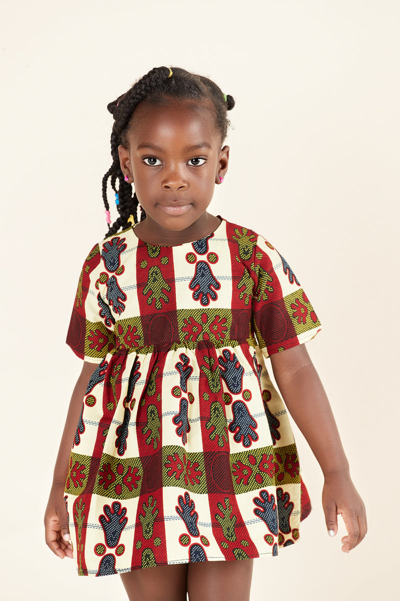 African Print Tavi Kid's Dress