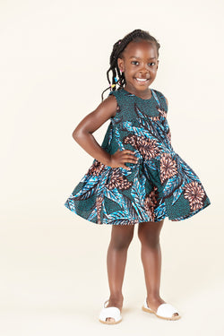 African Print Thando Kid's Dress