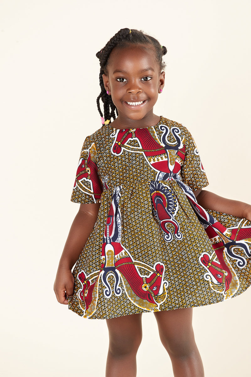 African Print Trisha Kid's Dress