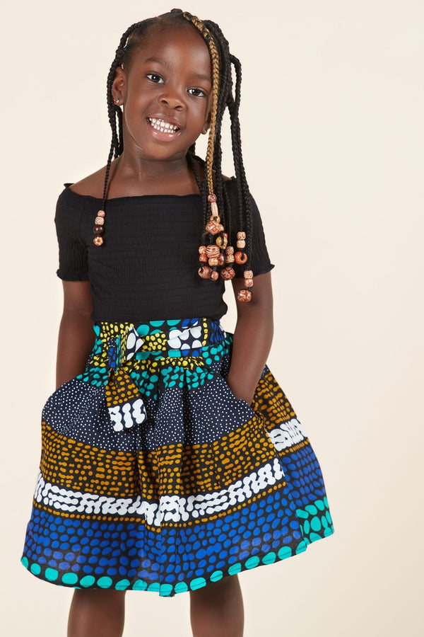 Grass-Fields Mid Lenght Dresses African Print Tumi Kid's Skirt