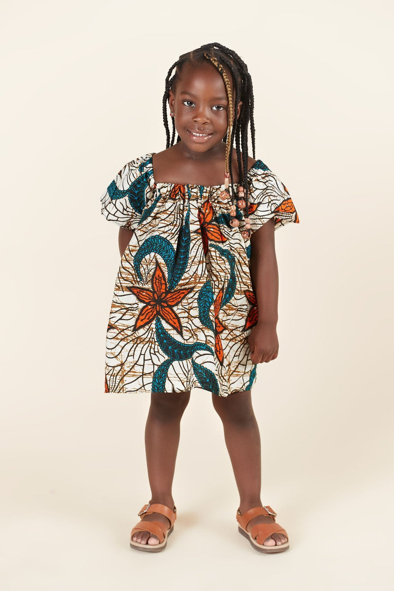 African Print Zaria Kid's Dress