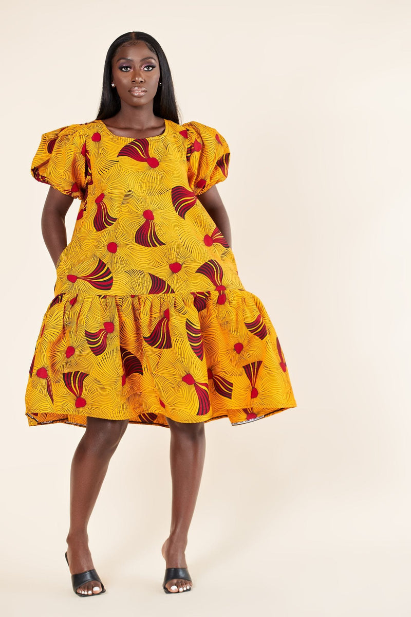 African Print Shandra Dress