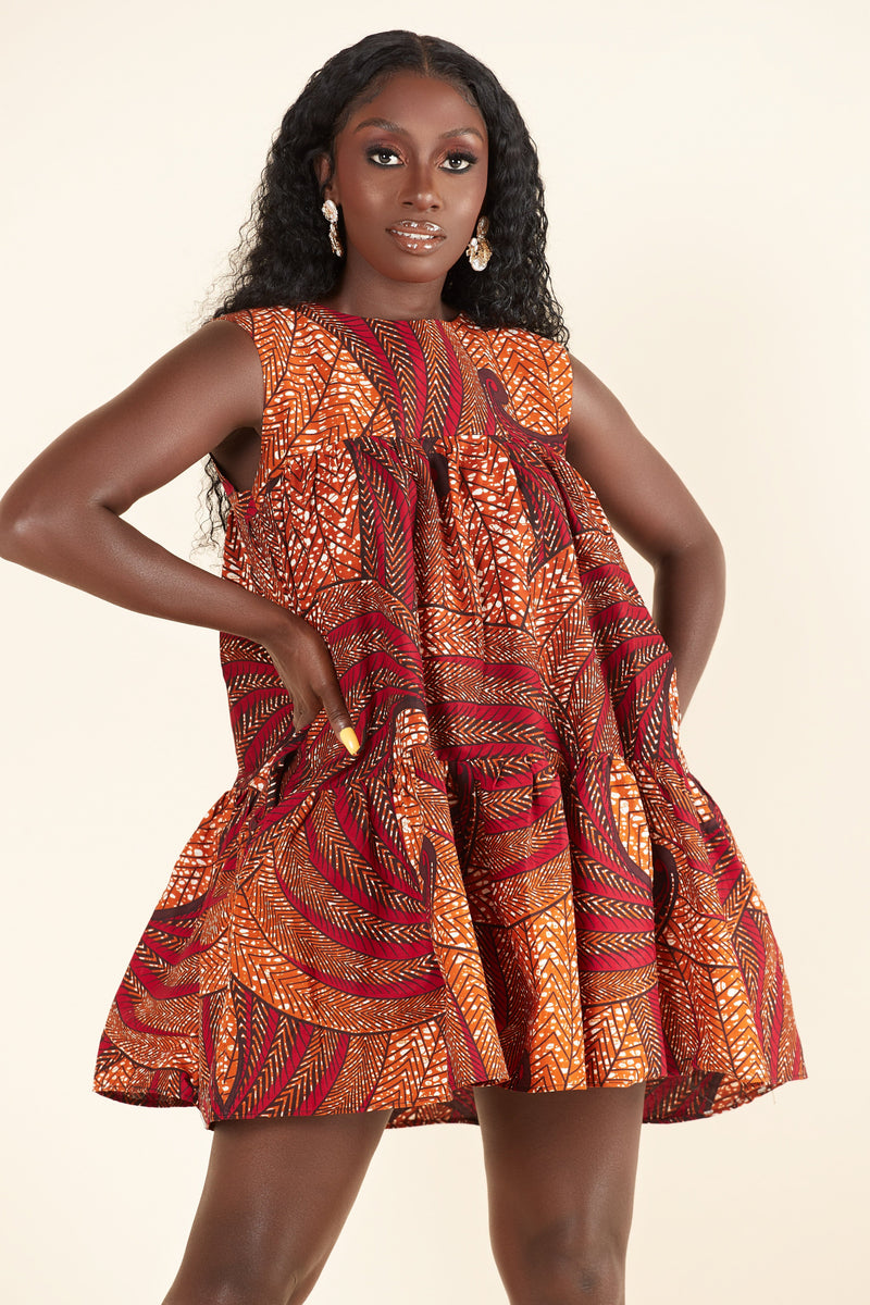 African Print Alyssa Dress
