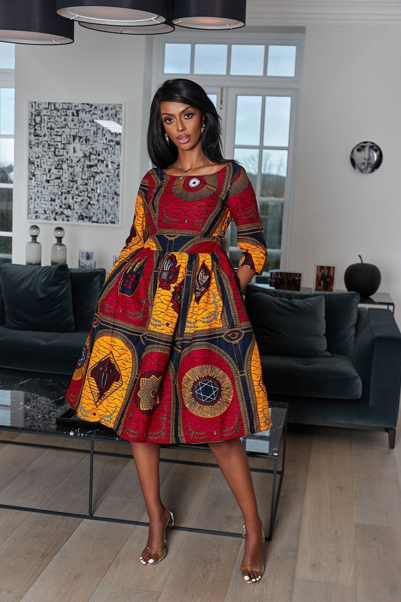 African Print Candence Dress