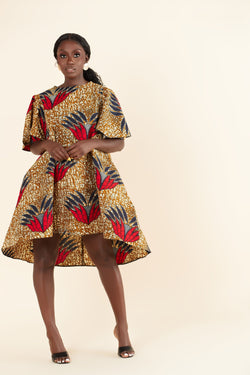 African Print Karine Dress