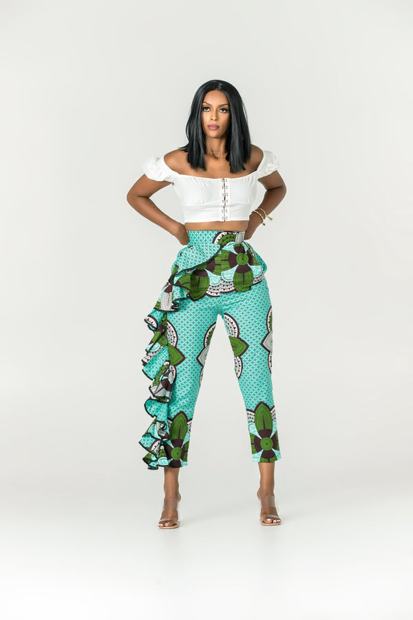 Grass-fields Pants African Print Belina Pants