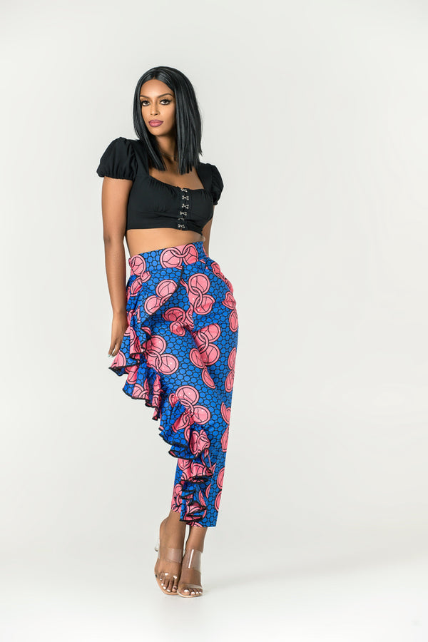 Grass-fields Pants African Print Chellie Pants