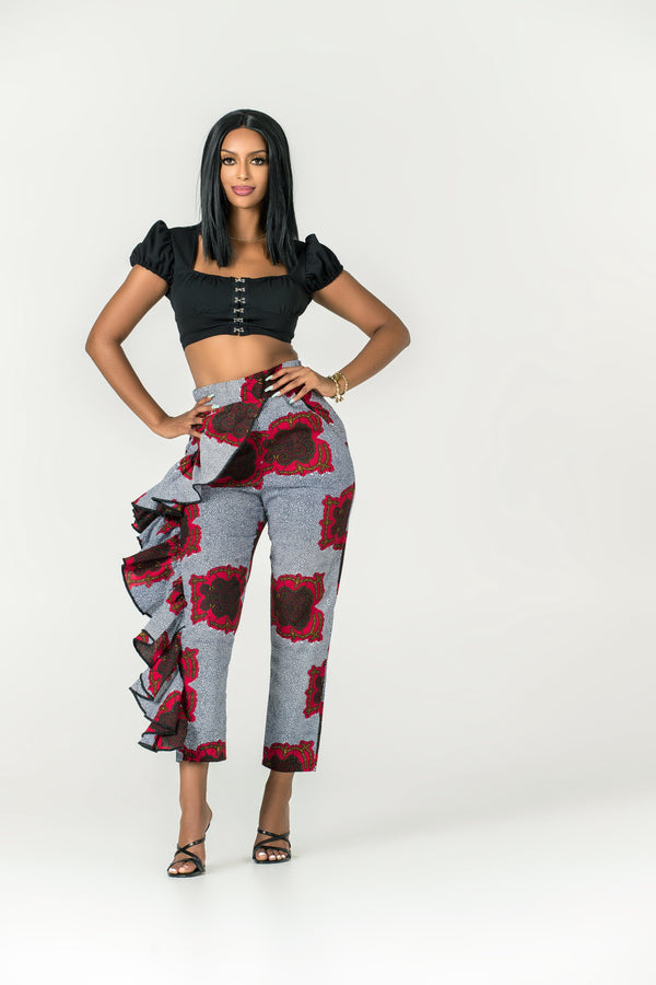 Grass-fields Pants African Print Senami Pants