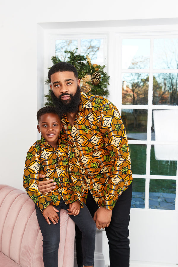 Grass-Fields shirt African Print Samuel Kid's Shirt