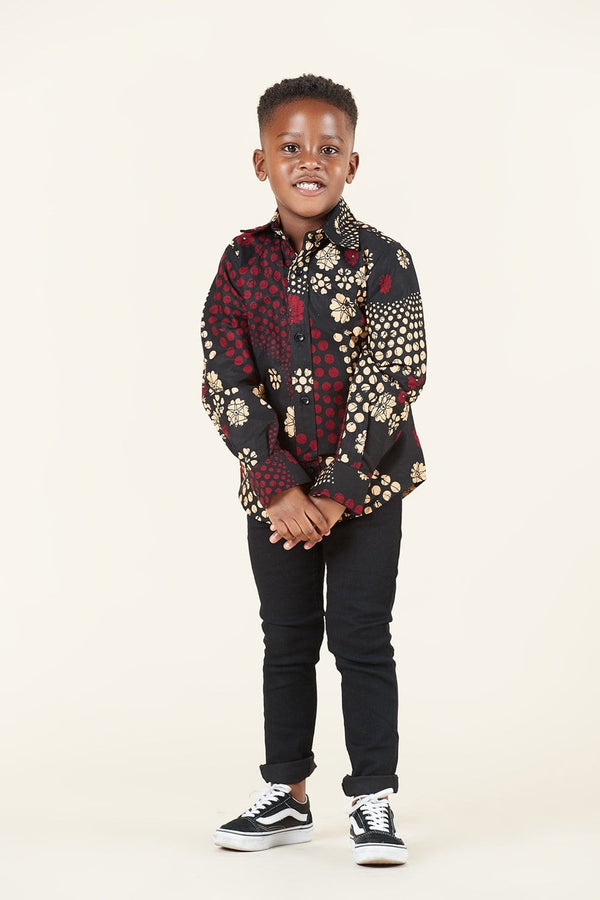 Grass-Fields SHIRTS African Print Kayefi Kid's Shirt