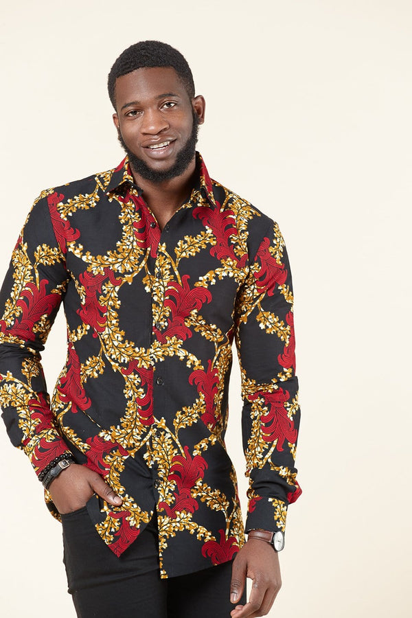 Grass-fields SHIRTS African Print Peter Shirt