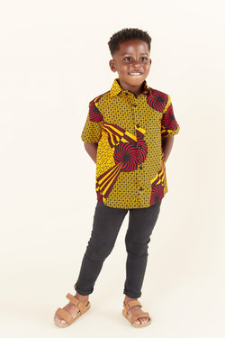 African Print Ade Kid's Shirt