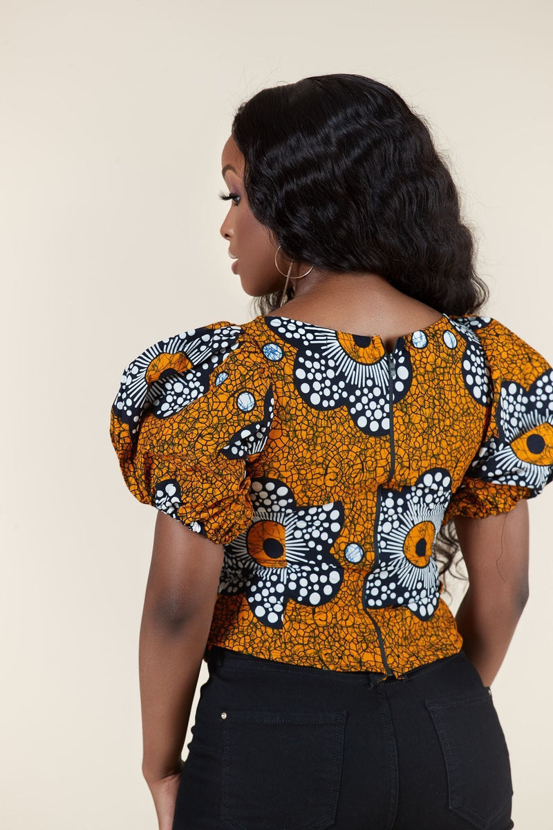 Grass-Fields Tops African Print Cynthia Top