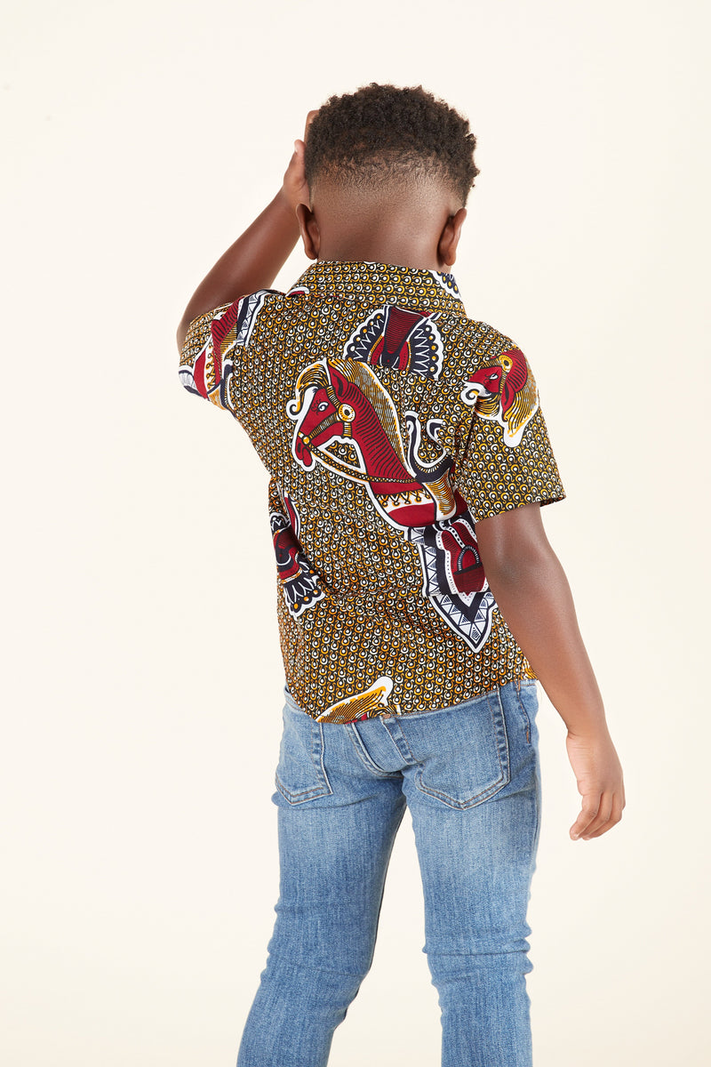 African Print Harvey Kid's Shirt