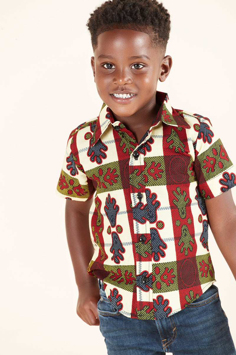 African Print Miles Kid's Shirt