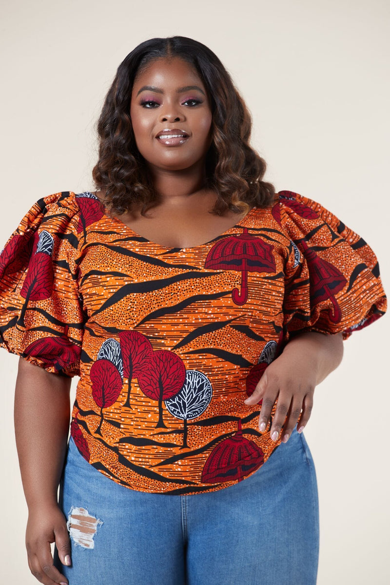 African Print Ohema Top