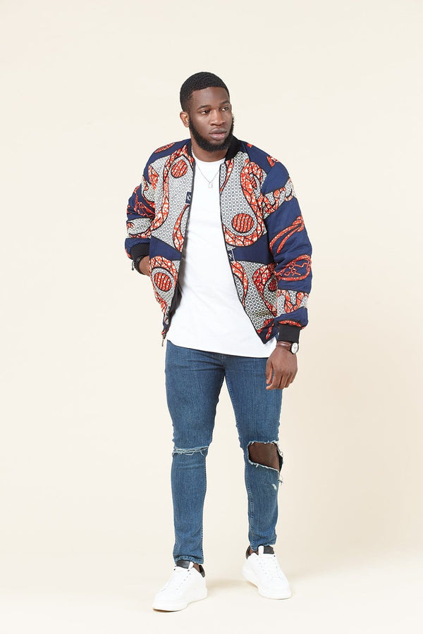 Grass-Fields Tops and Blazers Siba Men's Bomber Jacket