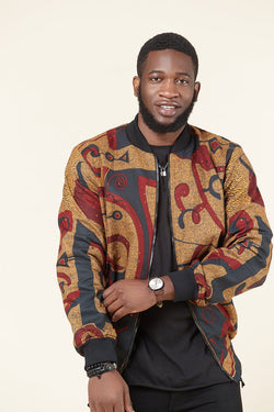 Grass-Fields Tops and Blazers Themba Men's Bomber Jacket