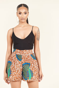 Grass-Fields Trousers African Print Alice Shorts