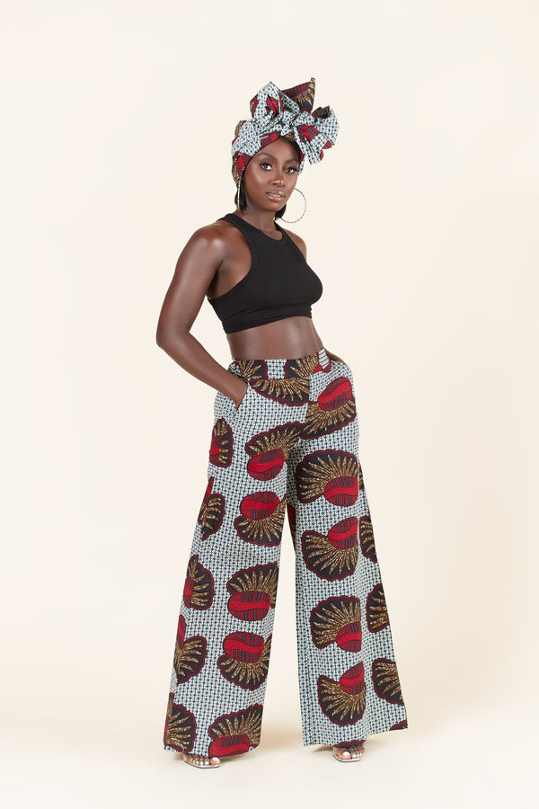 Grass-Fields Trousers African Print Amahle Pants