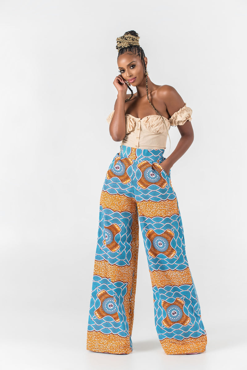 Grass-Fields Trousers African Print Anitah Pants