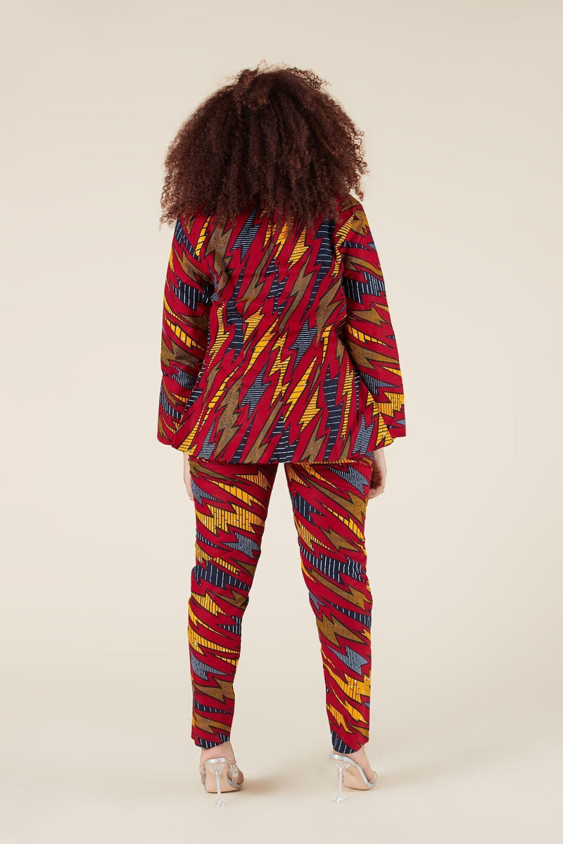 Grass-Fields Trousers African Print Ava Pants