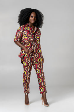 Grass-Fields Trousers African Print Carla Pants