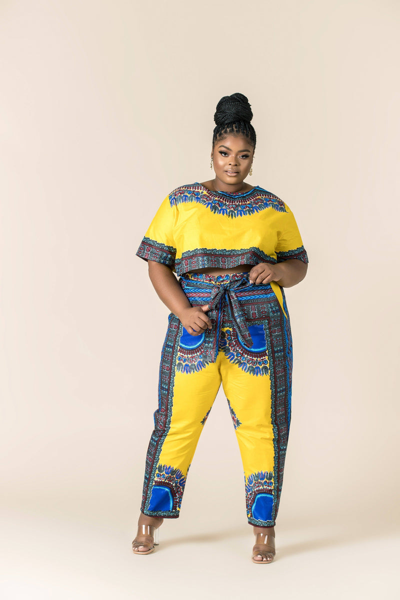 Grass-Fields Trousers African Print Dashiki Nyla Pants