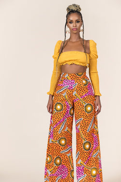 Grass-Fields Trousers African Print Diatta Pants