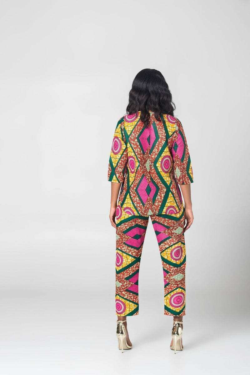 Grass-Fields Trousers African Print Elliana Pants