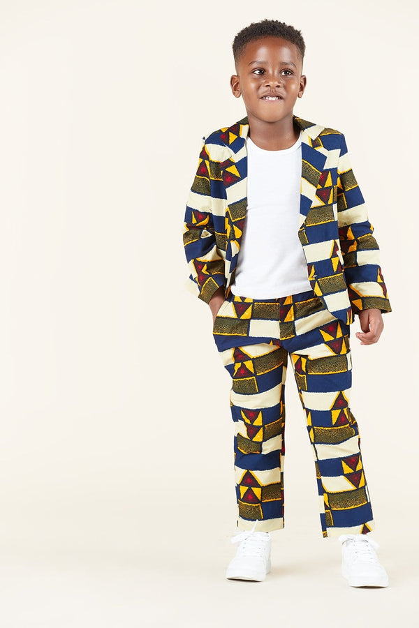Grass-Fields Trousers African Print Elvis Kid's Trousers