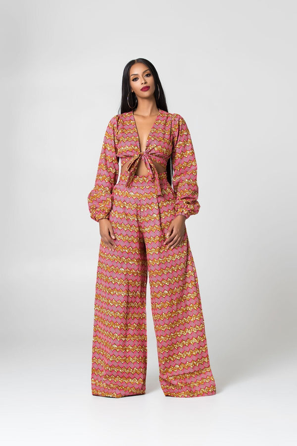 Grass-Fields Trousers African Print Hedy Pants