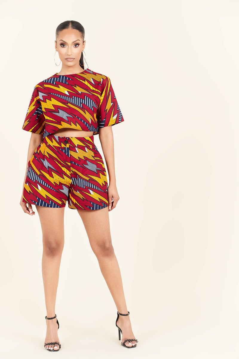 African Print Ife Shorts