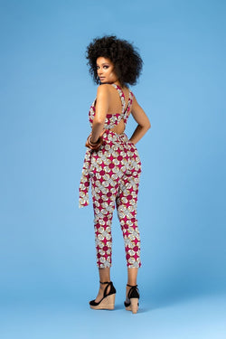 Grass-Fields Trousers African Print Kanzi Jumpsuit