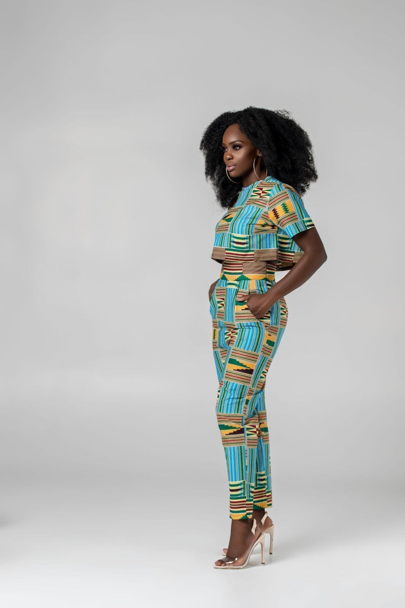 Grass-Fields Trousers African Print Luisa Pants