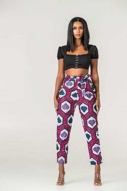 Grass-Fields Trousers African Print Mafalda Pants